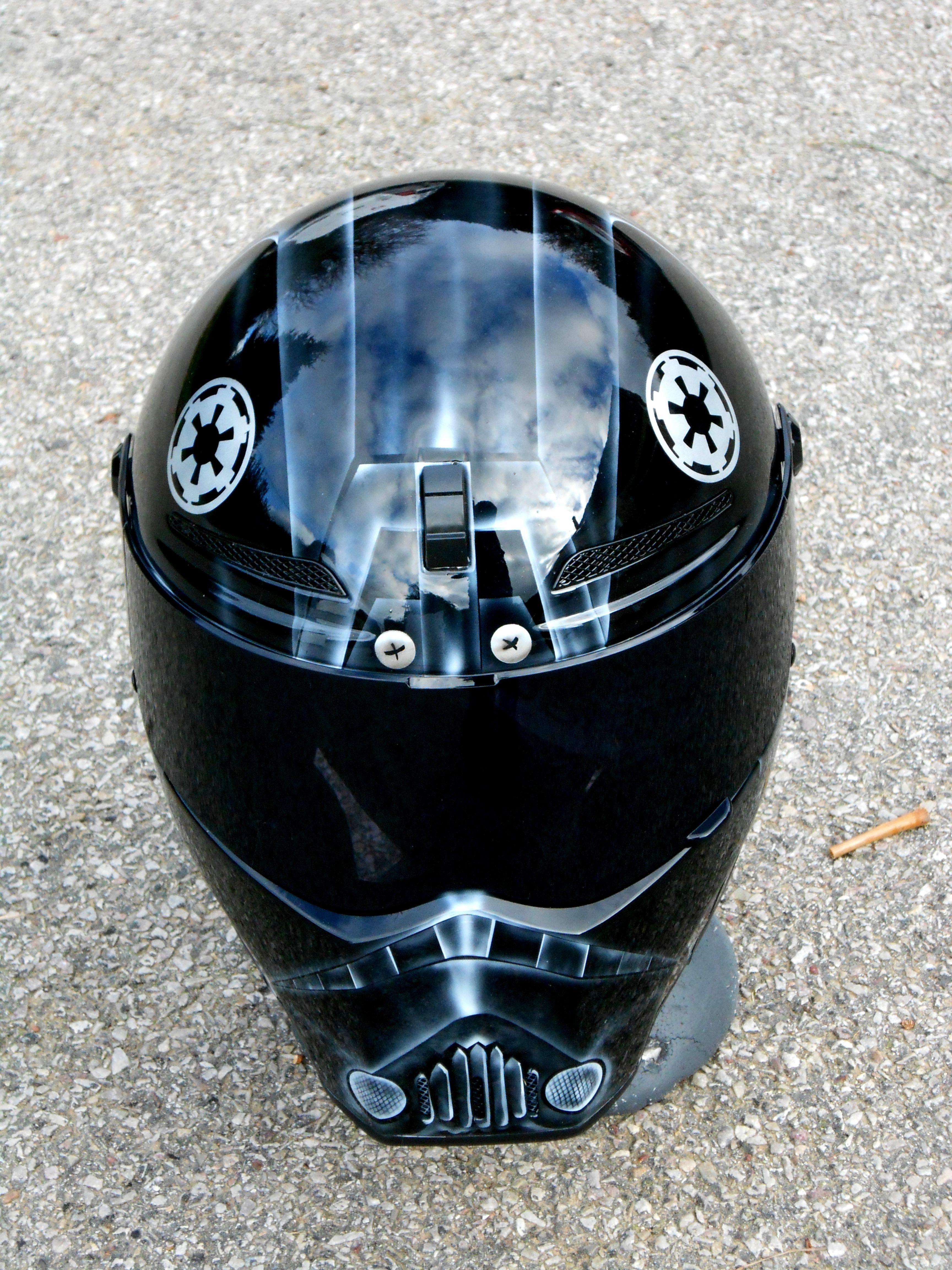 Starwars Tie fighter pilot helmet - Just Airbrush Tie Fighter Pilot Helmet