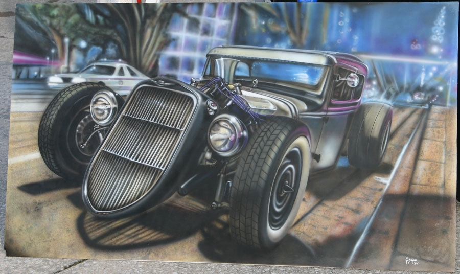 Finished just airbrush for Airbrush car mural