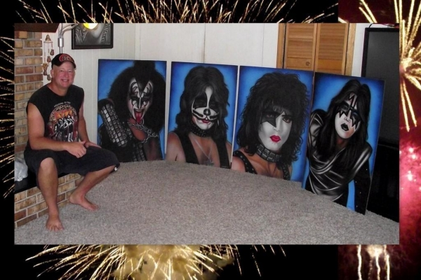 KISS AIRBRUSH ART - Members Gallery - Gallery - KISS Online
