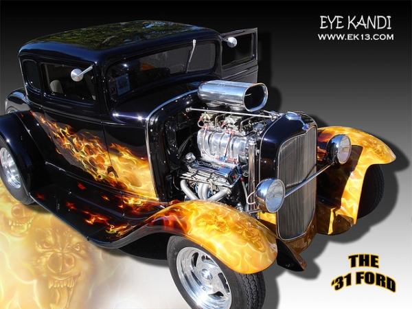Custom Paint Airbrushing Art Design Car Custom Painting