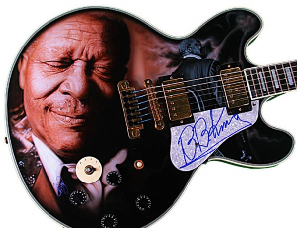 $14400.00 BB King Autographed Signed Gibson Lucille Best Airbrush Guitar - Top Airbrush Artwork on the Web