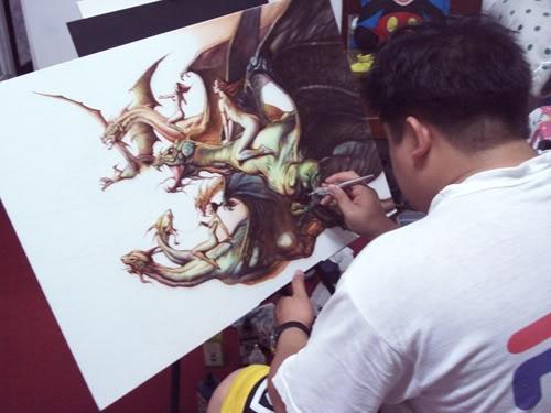 How to Airbrush Boris Master Piece on canvas - WetCanvas