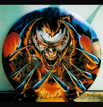 Forbidden Images Tattoo Art Studio : Original Art Airbrush : RIPCLAW !