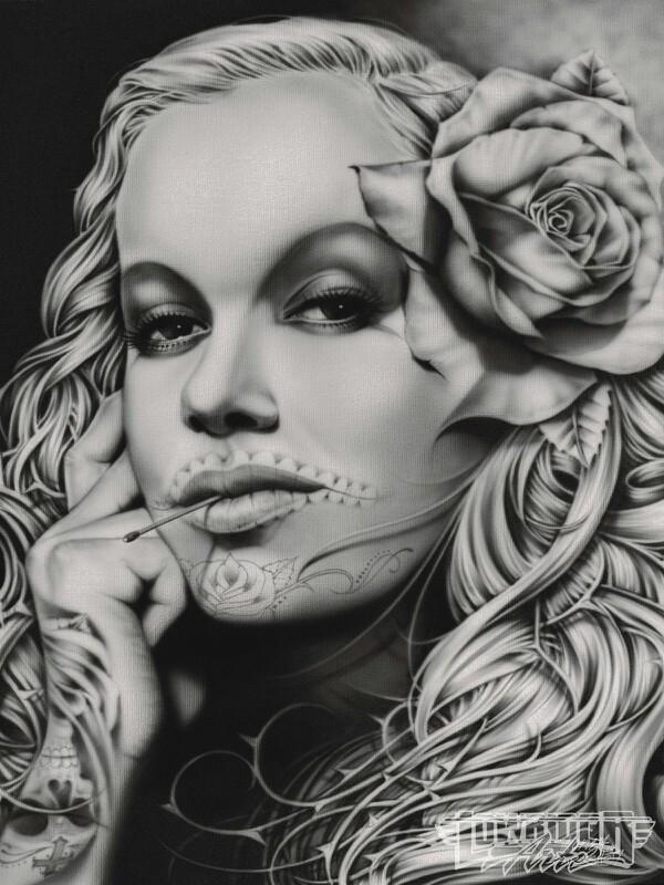 Airbrush Art on Canvas