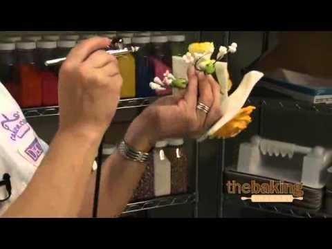 Gumpaste Flowers - Airbrushing - Food