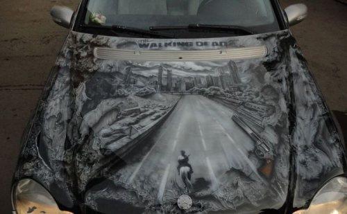 'Walking Dead' themed car