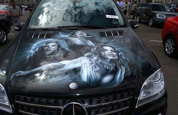 Aerografie Mercedes