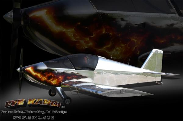 Stunning Sonex Airplane Realistic Fire Custom Painted