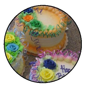 Cakes airbrushed with Badger King of Cakes Pro airbrush by Andresens Bakery