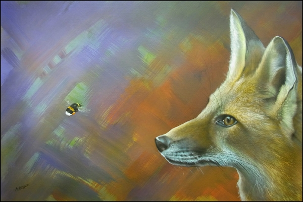 The Fox and the Fly done by Ashley Brayson using Badger Renegades