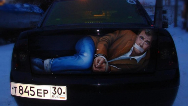 No, Jeremy Clarkson Is Not Stuffed Inside This Car Trunk