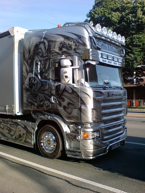 """Scania R V8 """"Joker"""""""