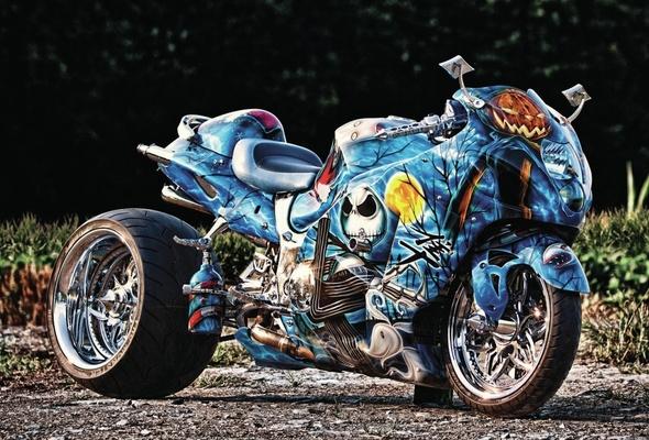 Wallpaper suzuki hayabusa, tuning, airbrush, suzuki, sport bike - Airbrush Artwoks