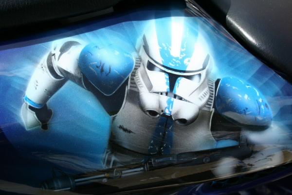 ER Waterlooville Classic Car Star Wars Airbrush Characters