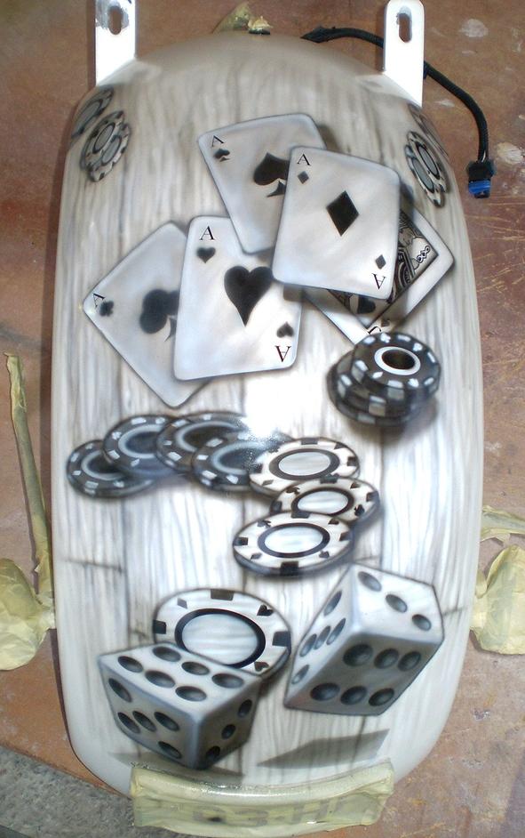 Harley rear guard - the gambler