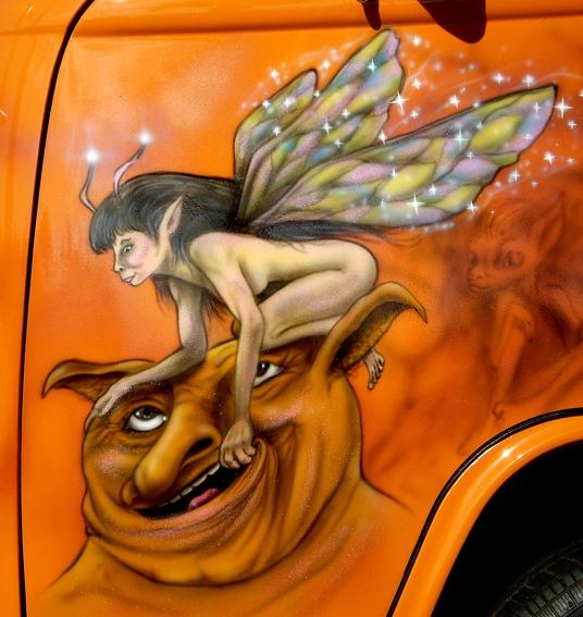 """Kombi called """" Twisted Pixie""""  Passenger door"""