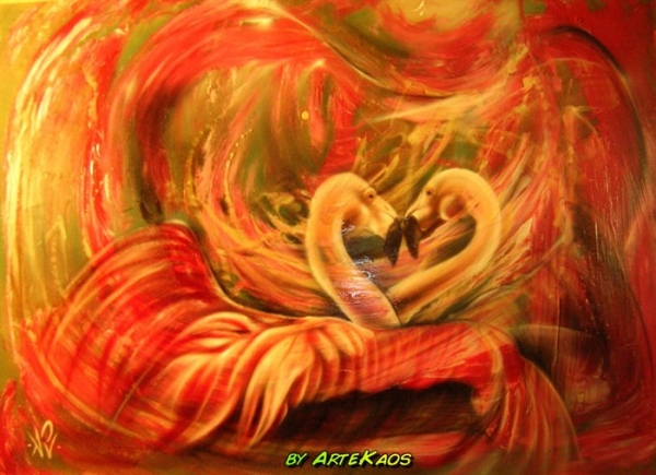 Flamingo's... by ArteKaos