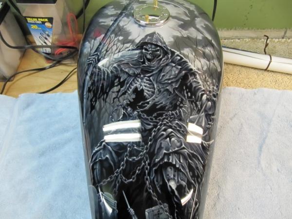 Grim Reaper Airbrush tank Job