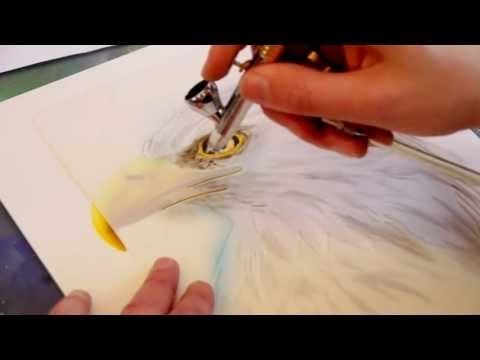 Harder & Steenbeck Airbrush: Eagle Wildlife  - Airbrush Video Tutorials
