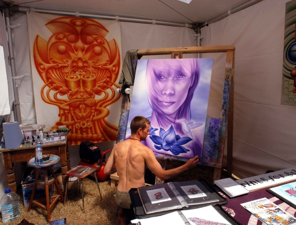 Live painting, Goldcoast Festival 2004