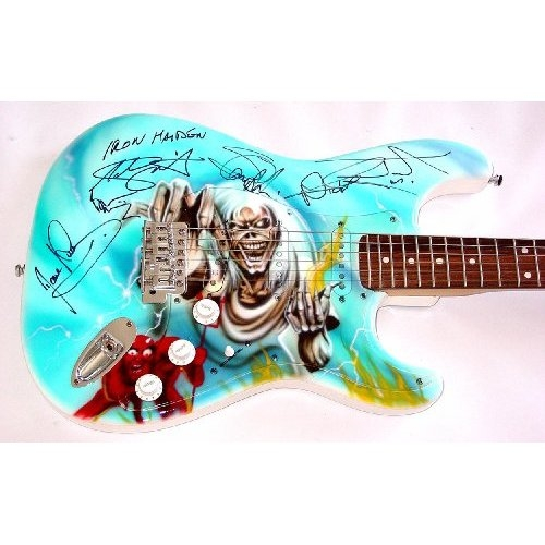 $5,397.00 - Autographed Signed Killer Airbrush Skull Guitar: Everything Else