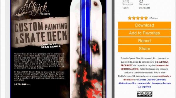 Airbrush Stencil Step - Kustom Skate deck FREE DOWNLOAD