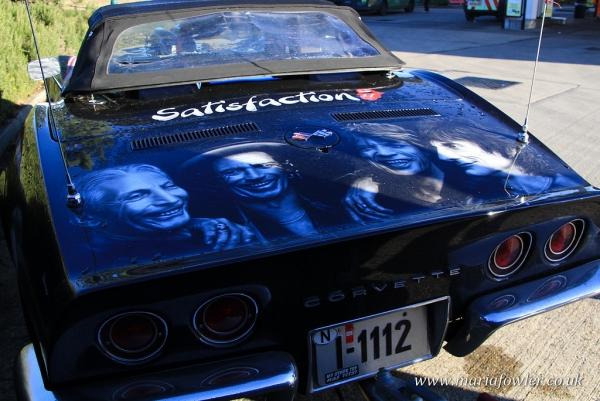 Corvette Stingray with Rolling Stones Artwork