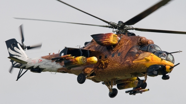 Esagerato Airbrush on Helicopter