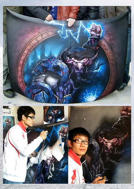Custom airbrush car motorcycle art painting by Dongbai Tang - Kustom Airbrush