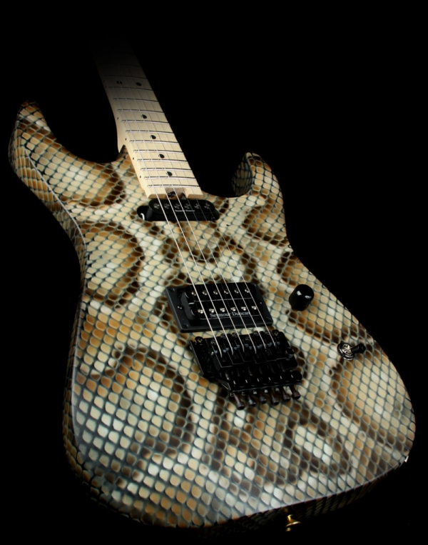 Airbrush Charvel Custom Warren Demartini Dinky Guitar Snake Skin