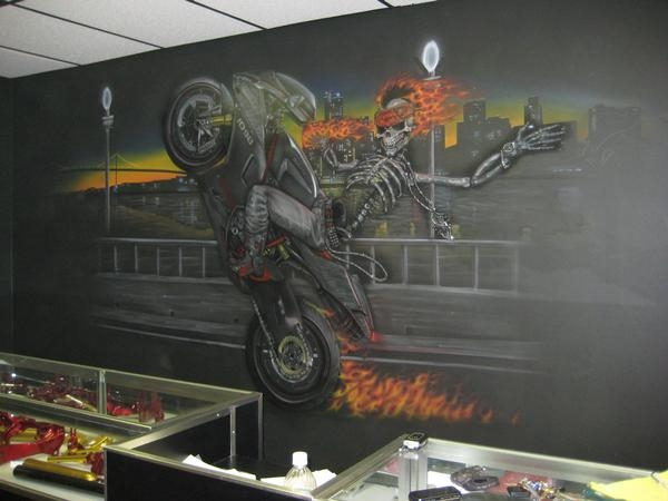 wall mural i airbrushed by jonny5nlala justairbrush airbrush wall murals submited images