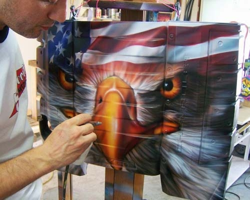 Custom airbrushing by space city airbrush houston for Airbrush mural painting