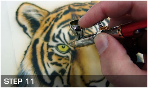 Airbrush Step by Step - Tiger Wildlife Airbrush Anleitung