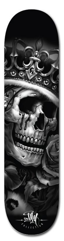 Skateboard airbrush skull