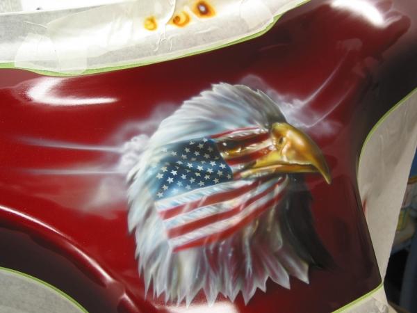Eagle on Fairing  - My Airbrush Art