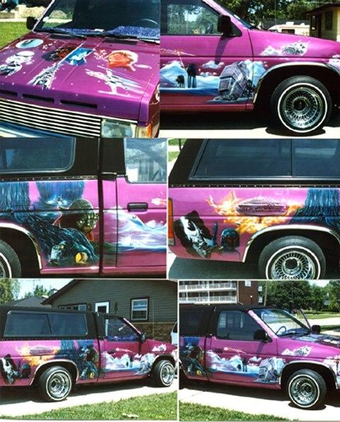 Starwars on mini truck - My Airbrush Art