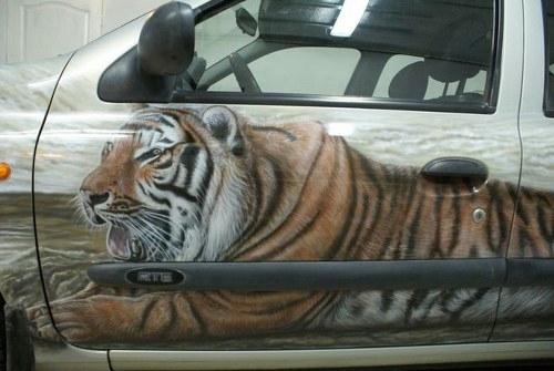 Tiger on Truck