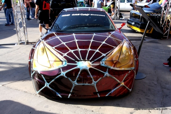Airbrush on toyota celica spiderman
