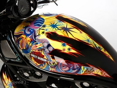 Modification sporty Airbrush Harley-Davidson Night Riders