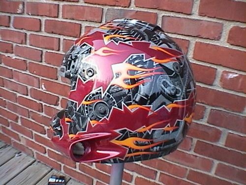 Scratchboard  Airbrush kustom helmet