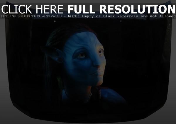 Airbrush on the hood - Avatar