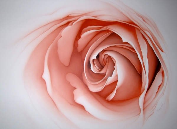 flower - copy from x-ray photo - Airbrush Art
