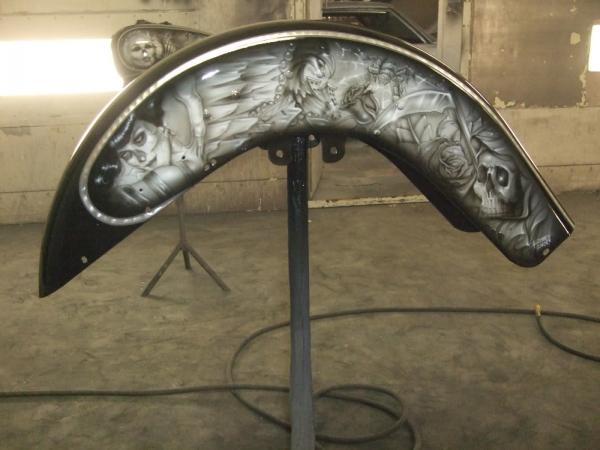 Custom Harley Davidson Airbrush Artwork