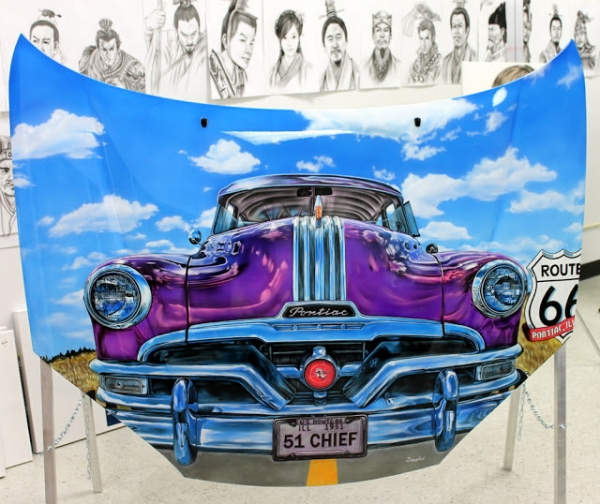 Stunning Airbrush Car Painting By Dongbai Tang | DONGBAI INTERNATIONAL AIRBRUSH ART SCHOOL