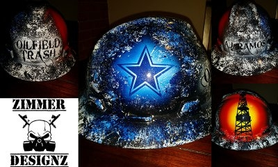 Oilfield Trash Dallas Cowboys hard hat by ZimmerDesignZ.com