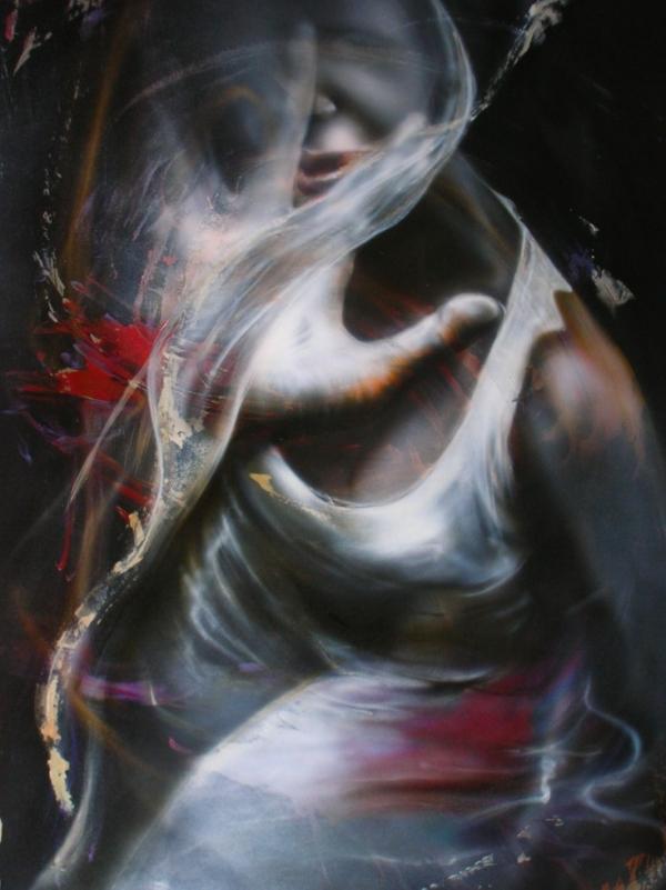 CONTACT - Airbrush on paper by Alessandro Rinaldi - My Art - La TUA Arte nella Rete