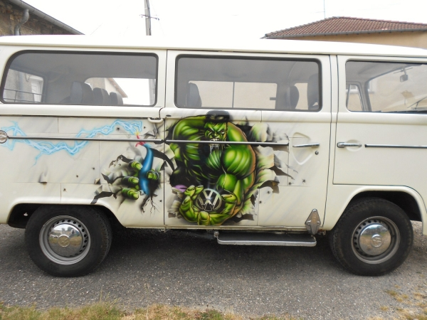 airbush on combi vw Krem 2014