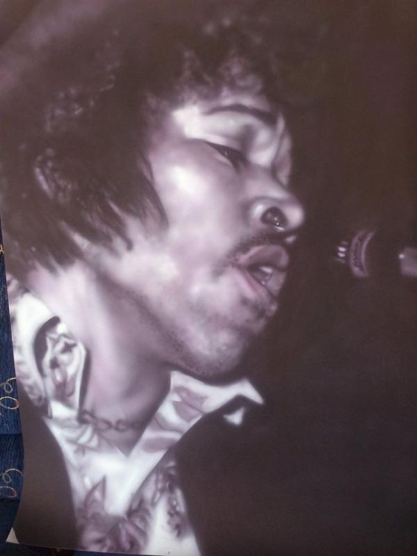 airbrush - Jimi Hendrix Purple haze by Julia Tapp