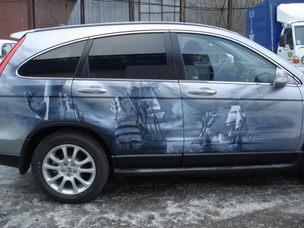 Honda SW - Airbrush artwork by uaitspirit