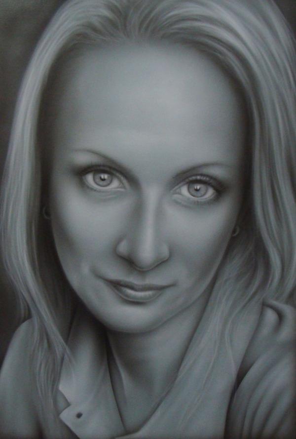 Airbrush portrait BB by kshandor